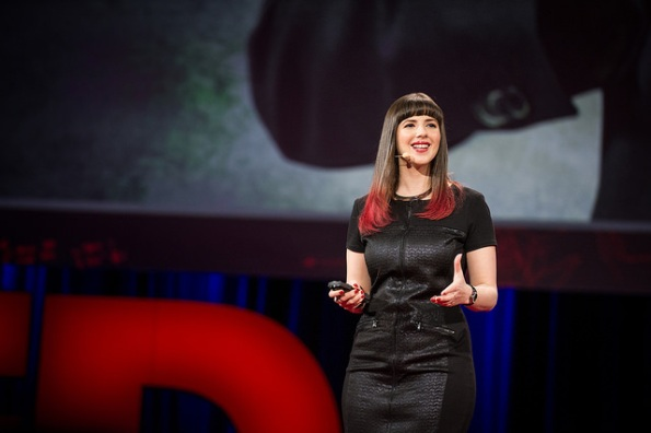 Keren Elazari speaks at TED2014. The day she gave her talk, we spoke to her about TK. Photo: James Duncan Davidson